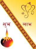 Belle cartoline d'auguri per la celebrazione di diwali Immagine Stock Libera da Diritti
