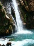 Belle cascade à écriture ligne par ligne en Croatie No.5 Photos stock