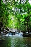 Belle cascade à l'île de Phaghan Images libres de droits