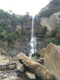 belle cascade dans le côté de montagne photos libres de droits