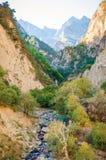 Belle cascade en canyon de Chegem Image libre de droits