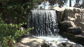 Belle cascade en parc banque de vidéos