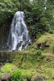 Belle cascade près du village de Nordeste sur l'île de San Miguel Images libres de droits