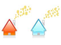 Belle case illustrazione di stock