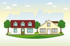 Belle case di campagna Immagine Stock