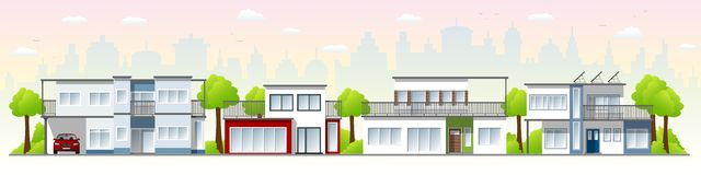 Belle case moderne Immagine Stock