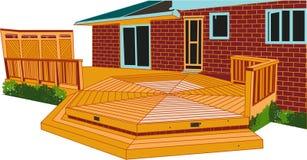 Belle Chambre de luxe avec le porche élégant de concepteur illustration de vecteur
