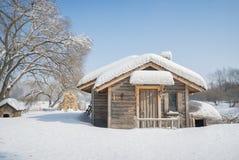 Belle Chambre en bois Photo libre de droits