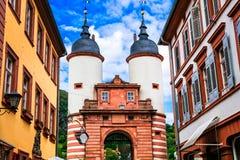 Belle città della Germania - Heidelberg Portoni di Karl Theodor B Fotografia Stock