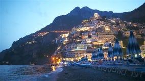 Belle citt? costiere dell'Italia - Positano scenico nella costa di Amalfi archivi video