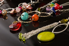 Belle collection de jewelery Photo stock