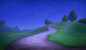 Belle colline Images libres de droits