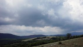 Belle colline e panorama delle foreste video d archivio