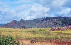 Belle colline e valli dell'isola di Kauai, Hawai Fotografia Stock Libera da Diritti