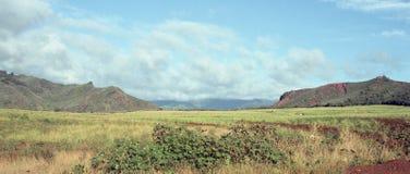 Belle colline e valli dell'isola di Kauai, Hawai Immagine Stock