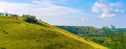 Belle colline et herbe verte Photo stock