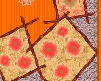 Belle conception colorée d'impression de textile illustration libre de droits