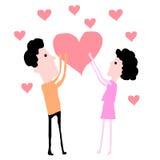 Belle conception de couples pour la carte illustration stock