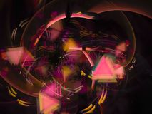 belle conception de fractale d'écoulement d'effet de futur de papier peint mouvement numérique abstrait d'élégance Photos stock