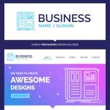 Belle conception de marque de concept d'affaires, grille, interface, l illustration de vecteur