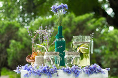 Belle conception des décorations de table pour des mariages Photographie stock
