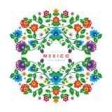 Belle conception florale ethnique mexicaine de décoration illustration libre de droits