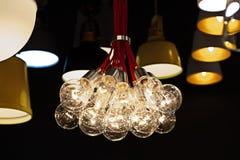 Belle conception moderne des lampes de plafond de rotin Photos libres de droits