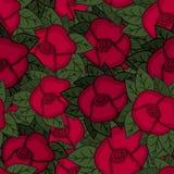 Belle configuration florale sans joint Illustration de vecteur de fleur Zone des fleurs Images stock