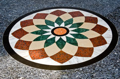 Belle configuration sur l'étage de granit Image stock