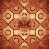 Belle configuration sur une glace brune illustration de vecteur