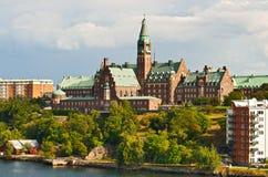 Belle construction à Stockholm Images stock