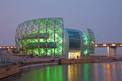 Belle construction en Corée du Sud Image libre de droits