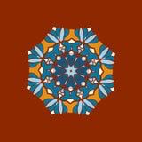 Belle copie indienne d'ornement floral Mandala Fabric Pattern ethnique Peinture de style de bouddhisme de vecteur pour la méditat Photographie stock