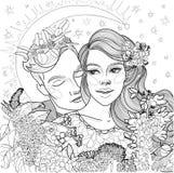 Belle coppie amorose illustrazione di stock