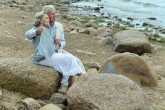 Belle coppie anziane Fotografie Stock Libere da Diritti