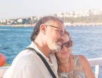 Belle coppie degli anni medii Fotografie Stock Libere da Diritti