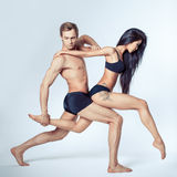 Belle coppie dei ballerini Fotografie Stock