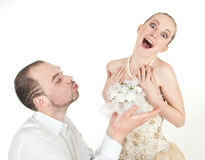 Belle coppie di nozze Immagini Stock Libere da Diritti