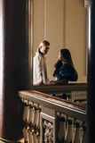 Belle coppie nell'abbigliamento dello XVIII secolo Fotografia Stock