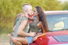 Belle coppie nell'amore Fotografia Stock