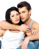 Belle coppie sexy nell'amore Fotografia Stock Libera da Diritti