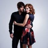 Belle coppie nell'amore Immagine Stock