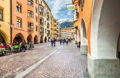 Belle costruzioni in città Innsbruck, Austria Fotografie Stock Libere da Diritti