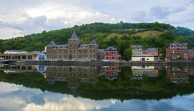 Belle costruzioni in montagna del Belgio Fotografie Stock Libere da Diritti
