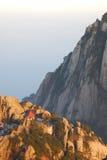 Belle costruzioni nella montagna di HuangShan Immagine Stock