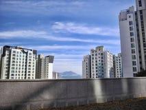 Belle costruzioni in Yeosu Fotografie Stock Libere da Diritti
