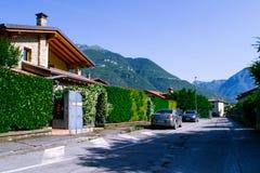 Belle cour en Italie Beau paysage en Lombardie, Italie photo libre de droits