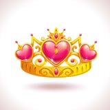 Belle couronne d'or de princesse illustration stock