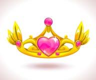 Belle couronne d'or de princesse illustration de vecteur
