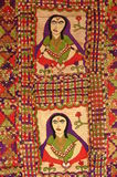 Belle couverture culturelle faite main d'oreiller de Sindhi Photo stock